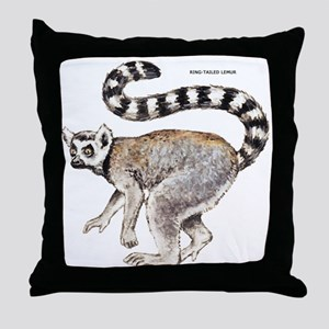 Ring-Tailed Lemur Throw Pillow