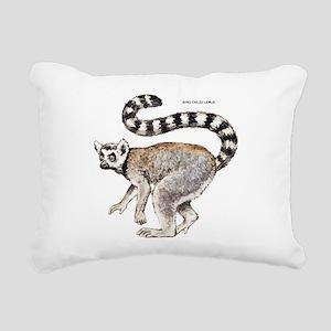 Ring-Tailed Lemur Rectangular Canvas Pillow