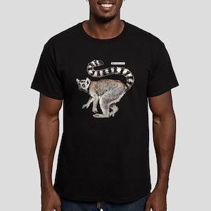 Ring-Tailed Lemur Men's Fitted T-Shirt (dark)