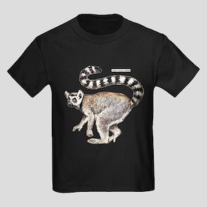 Ring-Tailed Lemur Kids Dark T-Shirt