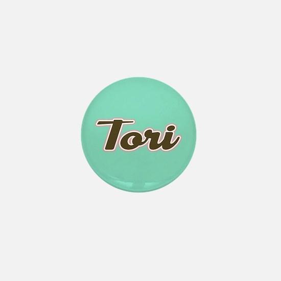Tori Aqua Mini Button