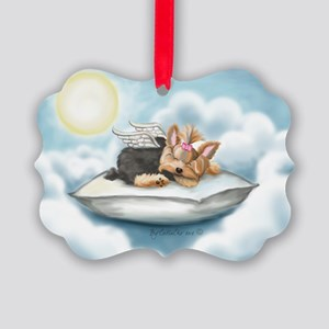 ByCatiaCho Yorkie Tink Picture Ornament