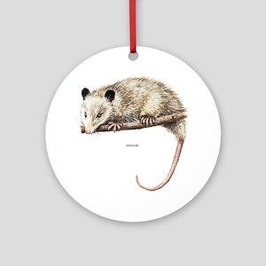 Opossum Animal Ornament (Round)
