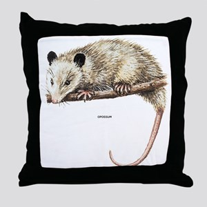 Opossum Animal Throw Pillow