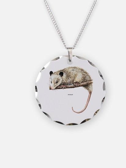 Opossum Animal Necklace