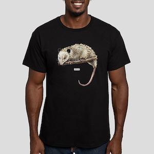 Opossum Animal Men's Fitted T-Shirt (dark)