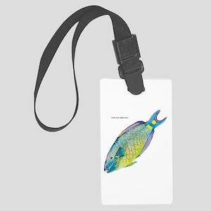 Stoplight Parrotfish Large Luggage Tag