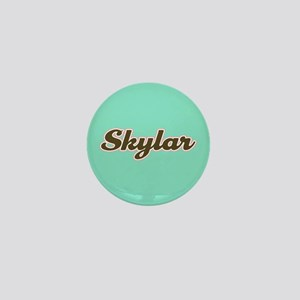 Skylar Aqua Mini Button