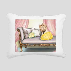 ByCatiaCho Yorkie Millie Rectangular Canvas Pillow