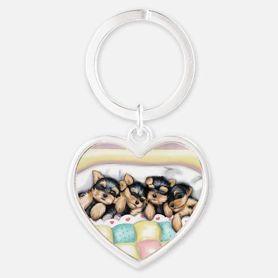 ByCatiaCho Sleeping Babies Heart Keychain