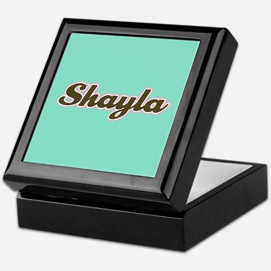 Shayla Aqua Keepsake Box