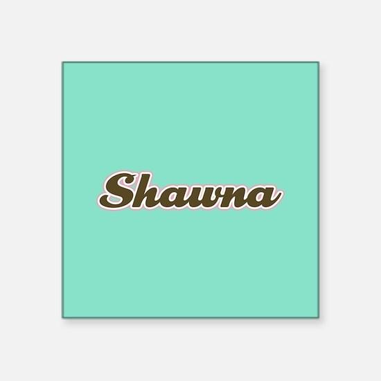 Shawna Aqua Sticker