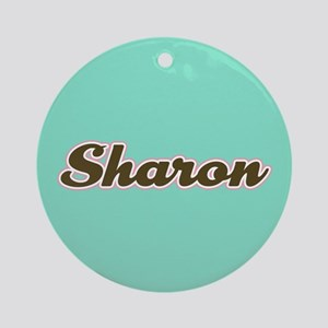 Sharon Aqua Ornament (Round)