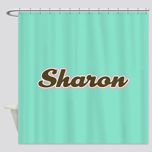 Sharon Aqua Shower Curtain