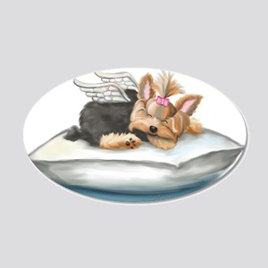 ByCatiaCho Yorkie Tink 20x12 Oval Wall Decal