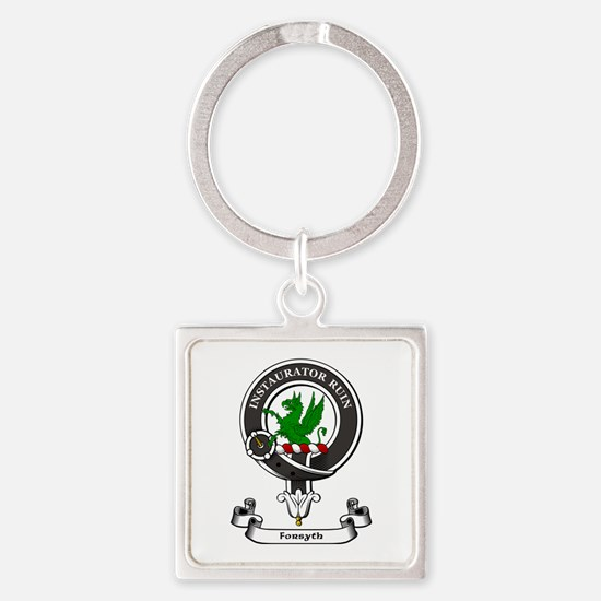 Badge-Forsyth [that Ilk] Square Keychain