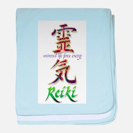 Reiki Healing hands chinese letters baby blanket