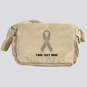 Gray Awareness Ribbon Customized Messenger Bag