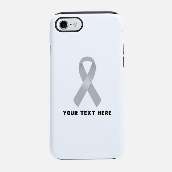 Gray Awareness Ribbon Customiz iPhone 7 Tough Case