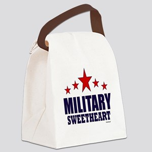 Military Sweetheart Canvas Lunch Bag