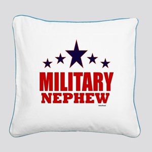 Military Nephew Square Canvas Pillow