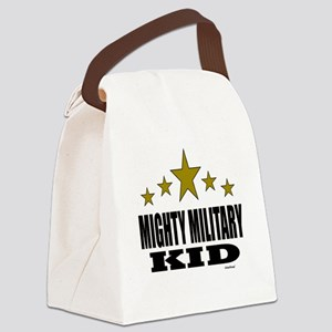 Mighty Military Kid Canvas Lunch Bag