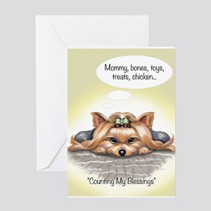 ByCatiaCho My Blessings Greeting Card