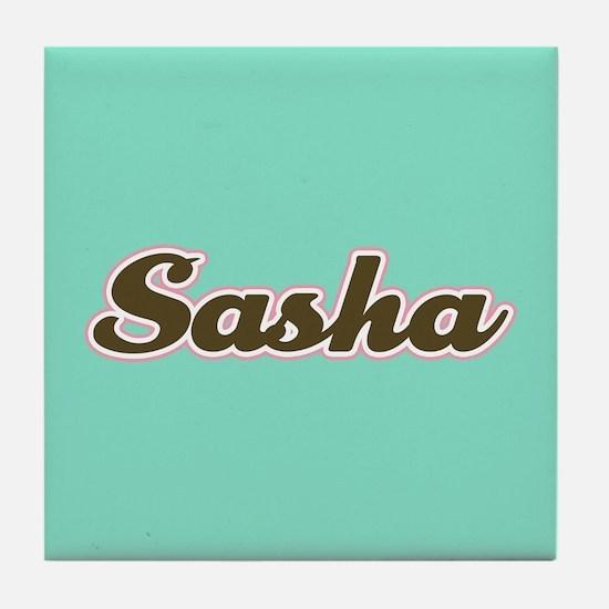 Sasha Aqua Tile Coaster