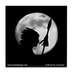 Chief Wapello Against the Moon Tile Coaster