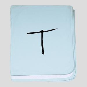 Elementary Monogram T baby blanket