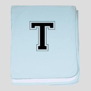 Collegiate Monogram T baby blanket