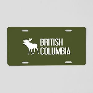 British Columbia Moose Aluminum License Plate
