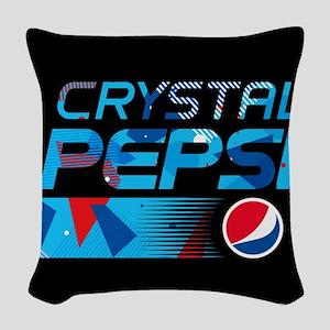 Crystal Pepsi Woven Throw Pillow