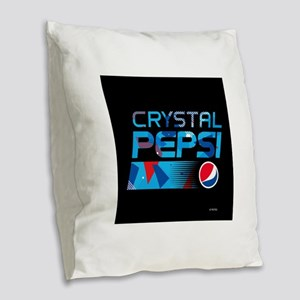 Crystal Pepsi Burlap Throw Pillow