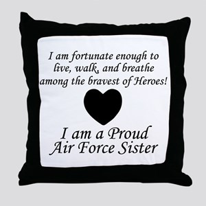 AF Sister Fortunate Throw Pillow
