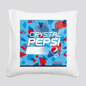 Crystal Pepsi Square Canvas Pillow