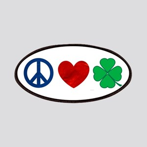 Peace Love Shamrock Patches