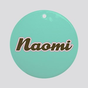 Naomi Aqua Ornament (Round)