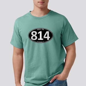 Black Erie, PA 814 Mens Comfort Colors Shirt