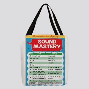 Sound Chart for SLPs: Developme Polyester Tote Bag