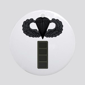 CW4 - Pin-On - Airborne Ornament (Round)