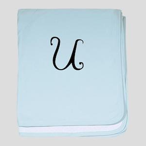 A Yummy Apology Monogram U baby blanket