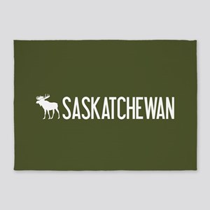 Saskatchewan Moose 5'x7'Area Rug