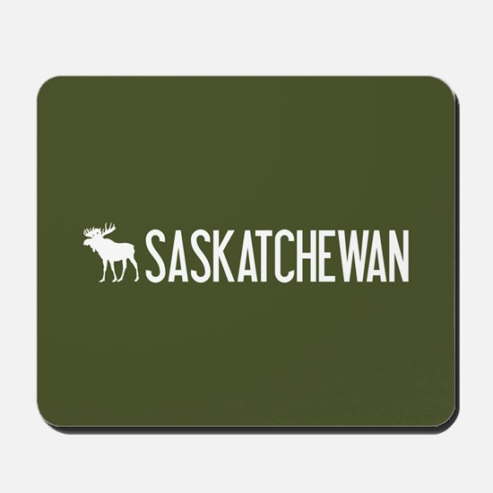 Saskatchewan Moose Mousepad