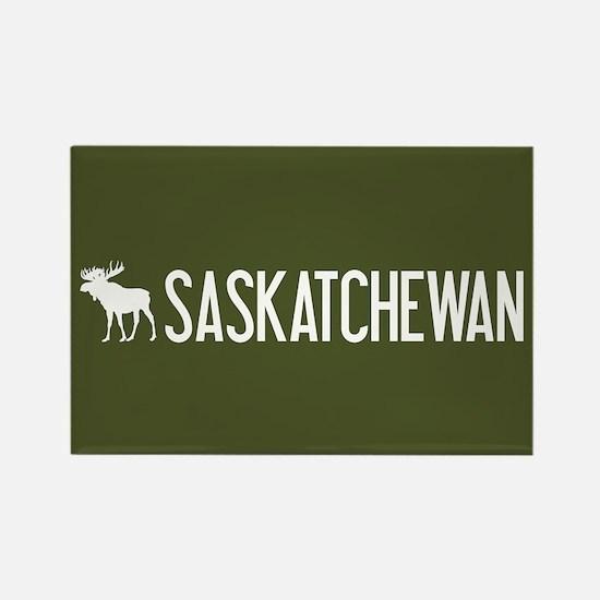 Saskatchewan Moose Rectangle Magnet
