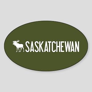 Saskatchewan Moose Sticker (Oval)