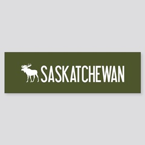 Saskatchewan Moose Sticker (Bumper)