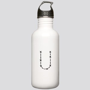 Barbed Wire Monogram U Water Bottle