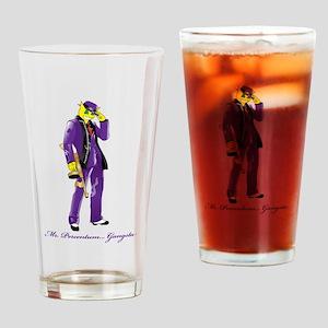 Mr Percentum Gangsta Drinking Glass