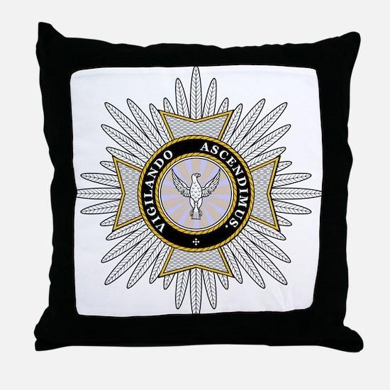 White Falcon Star Throw Pillow